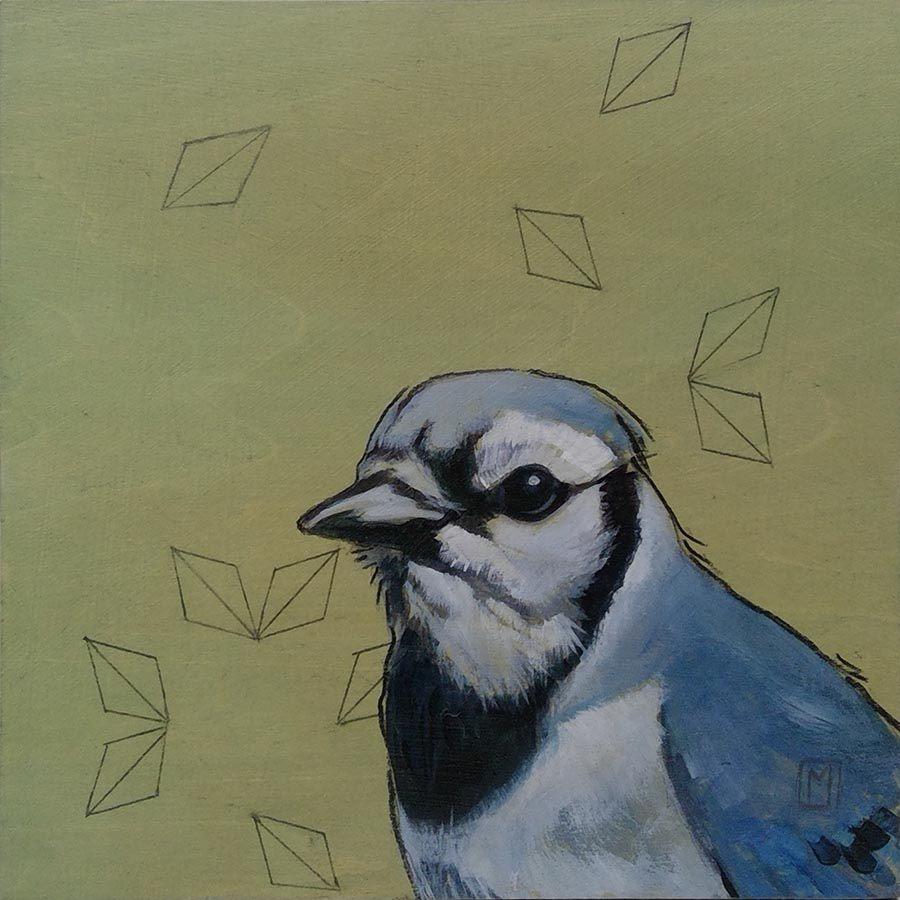 Sashiko-Woodland-Bluebird