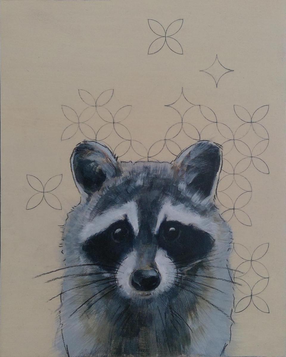 Sashiko-Woodland-Raccoon